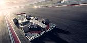 Racing Car At Sunset