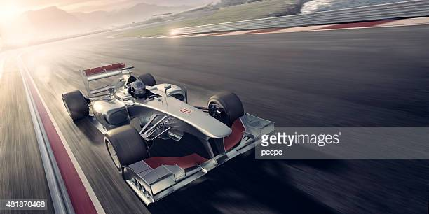 Racing Car At Sunset