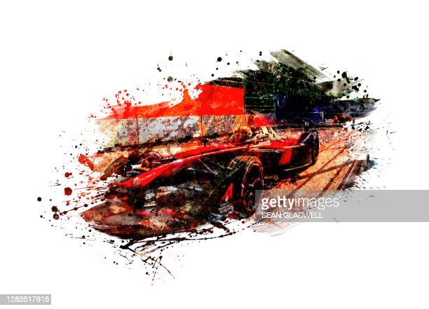 racing car painting - painted image stock pictures, royalty-free photos & images