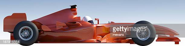 Racing Car with Clipping Path