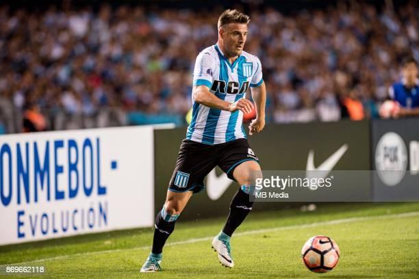 NOVEMBER 01 Racing Club Iván Pillud during the Copa Sudamericana quarterfinals 2nd leg match between Racing Club de Avellaneda and Club Libertad at...