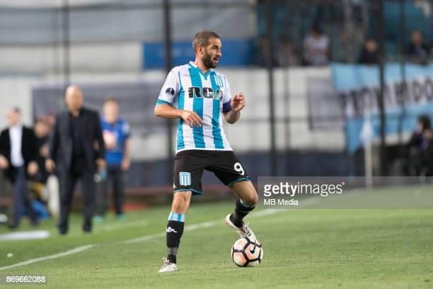 NOVEMBER 01 Racing Club Lisandro López during the Copa Sudamericana quarterfinals 2nd leg match between Racing Club de Avellaneda and Club Libertad...