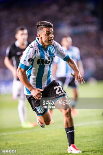 NOVEMBER 01 Racing Club Pablo Cuadra during the Copa Sudamericana quarterfinals 2nd leg match between Racing Club de Avellaneda and Club Libertad at...
