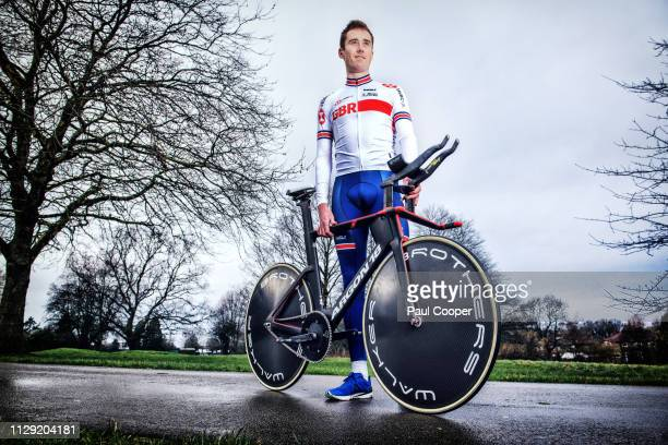Racing cyclist John Archibald is photographed for the Sunday Times on February 20 2019 in Cheadle England