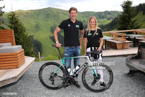 Racing cyclist Marcus Burghardt and Melanie Hofbauer during the first Ladies Day and start of the Queens Club hosted by Maria HoeflRiesch on June 26...