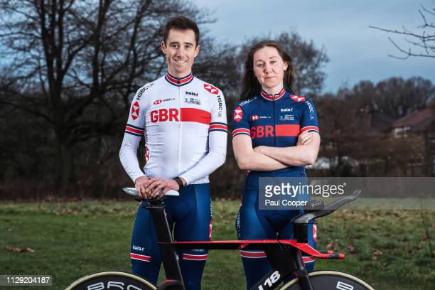 Racing cyclists John Archibald is photographed with his sister Katie Archibald for the Sunday Times on February 20 2019 in Cheadle England