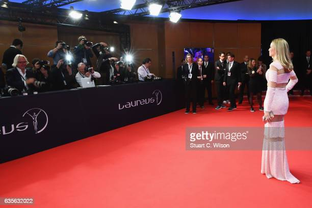 Racing driver Carmen Jorda of Spain attends the 2017 Laureus World Sports Awards at the Salle des EtoilesSporting Monte Carlo on February 14 2017 in...