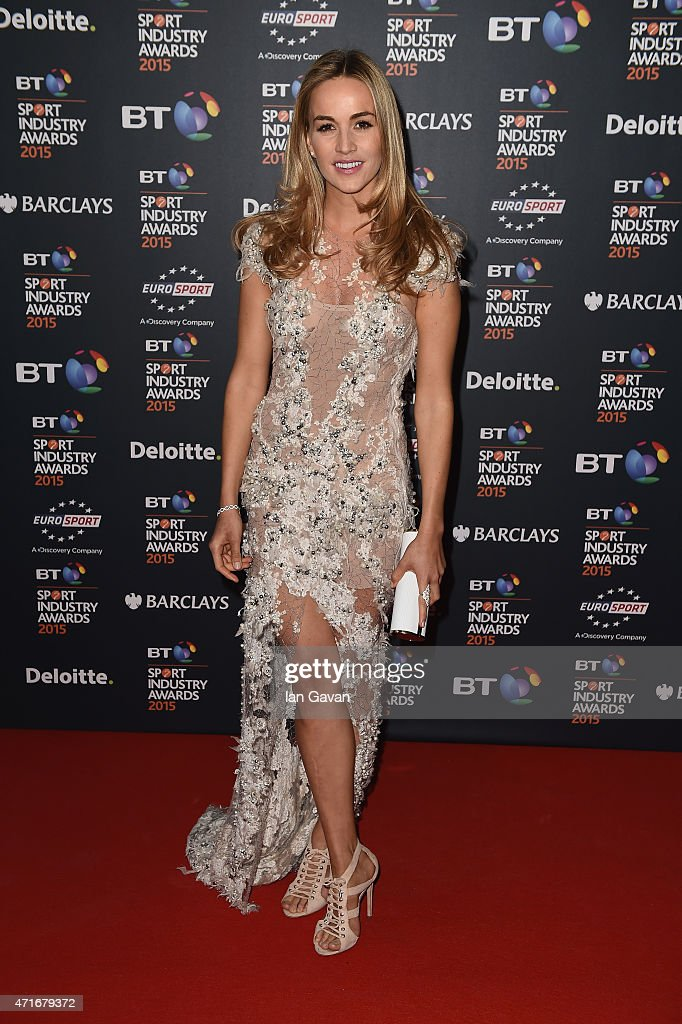 Racing driver Carmen Jorda poses on the red carpet at the BT Sport Industry Awards 2015 at Battersea Evolution on April 30, 2015 in London, England. The BT Sport Industry Awards is the most prestigious commercial sports awards ceremony in Europe, where over 1750 of the industry's key decision-makers mix with high profile sporting celebrities for the most important networking occasion in the sport business calendar.