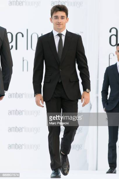 Racing driver Charles Leclerc walks the runway at the Amber Lounge Fashion Monaco 2017 at Le Meridien Beach Plaza Hotel on May 26 2017 in Monaco...