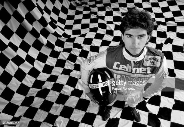 Racing driver Damon Hill of Great Britain and son of former two time Formula One Grand Prix world champion Graham Hill poses for a portrait on 1 May...