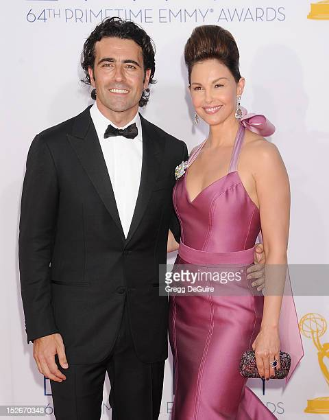 Racing driver Dario Franchitti and actress Ashley Judd arrive at the 64th Primetime Emmy Awards at Nokia Theatre LA Live on September 23 2012 in Los...