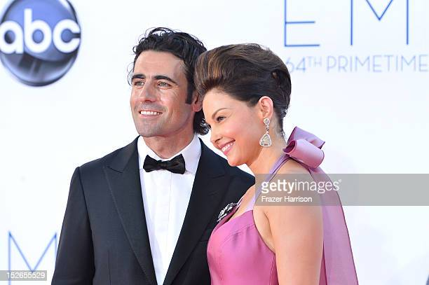 Racing driver Dario Franchitti and wife actress Ashley Judd arrive at the 64th Annual Primetime Emmy Awards at Nokia Theatre LA Live on September 23...