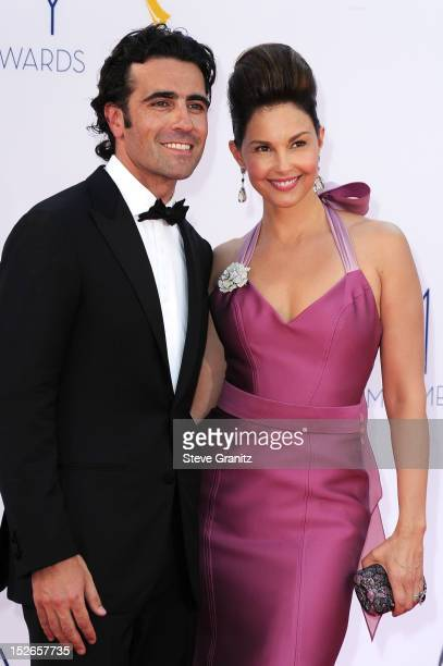 Racing driver Dario Franchitti and wife actress Ashley Judd arrive at the 64th Primetime Emmy Awards at Nokia Theatre LA Live on September 23 2012 in...
