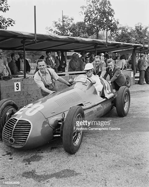 Racing driver David Hampshire at the Lausanne Grand Prix in Switzerland 27th August 1949