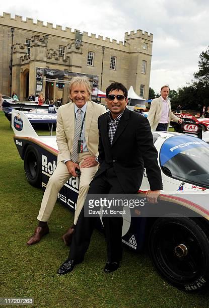 Racing driver Derek Bell and Audemars Piguet Ambassador Sachin Tendulkar attends the launch of the Audemars Piguet Royal Oak Offshore 44mm at the...
