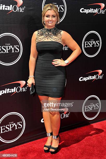 NHRA racing driver Erica Enders arrives at the 2015 ESPYS at Microsoft Theater on July 15 2015 in Los Angeles California