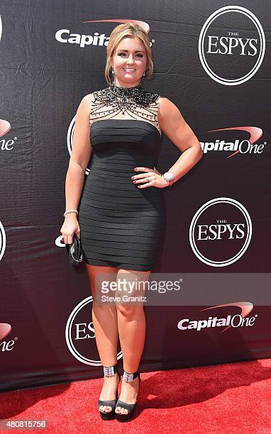 NHRA racing driver Erica Enders attends The 2015 ESPYS at Microsoft Theater on July 15 2015 in Los Angeles California