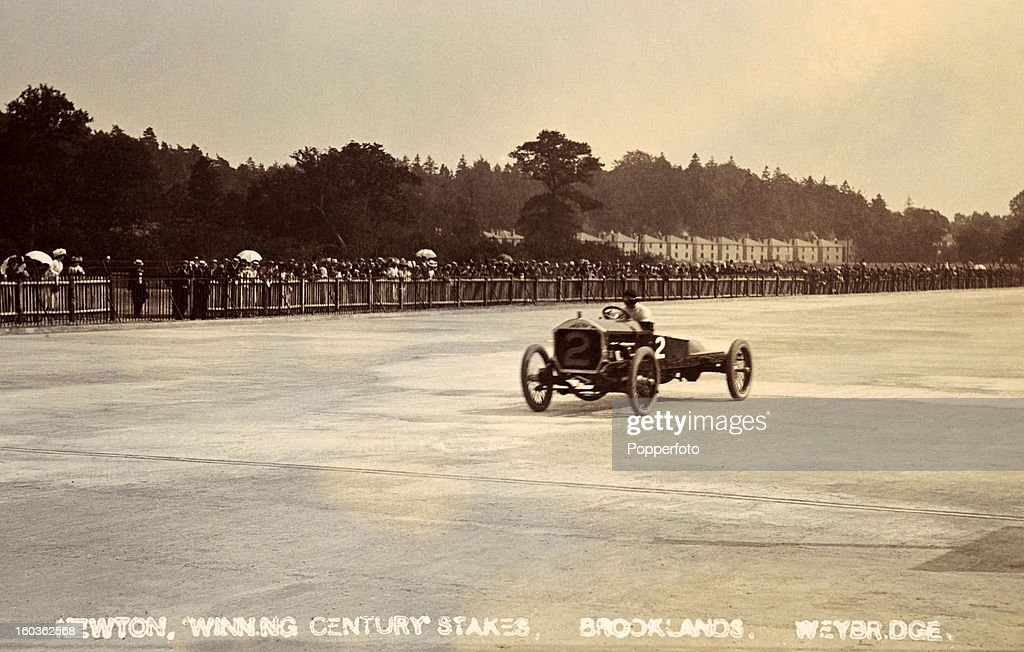 Racing Driver Frank Newton Wins Century Stakes At Brooklands : News Photo