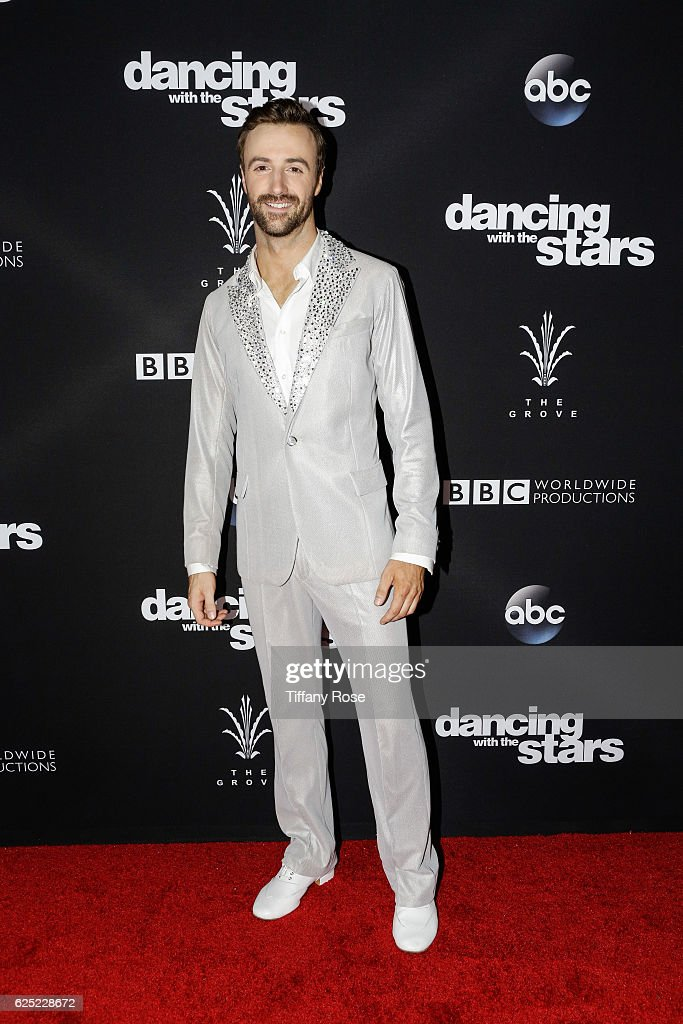 Racing driver James Hinchcliffe attends the 'Dancing With The Stars' live finale at The Grove on November 22, 2016 in Los Angeles, California.