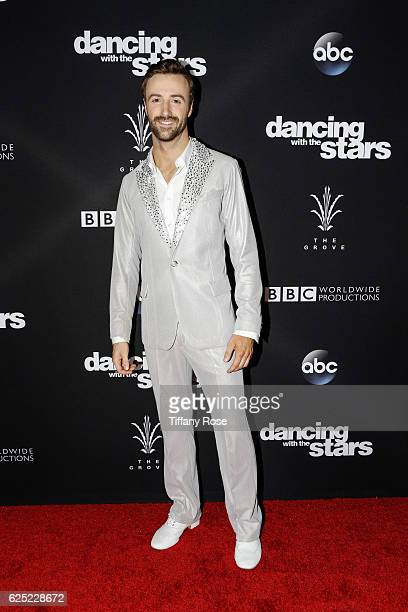 Racing driver James Hinchcliffe attends the 'Dancing With The Stars' live finale at The Grove on November 22 2016 in Los Angeles California