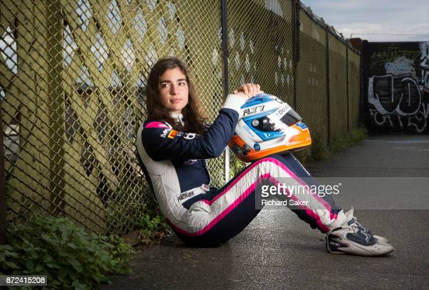 Racing driver Jamie Chadwick is photographed for the Observer on August 14 2017 in London England