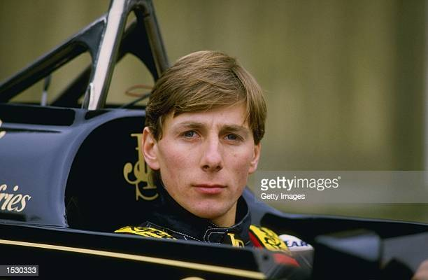 Racing driver Johnny Bute, Marquess of Bute aka Johnny Crichton-Stuart and Johnny Dumfries driver of the John Player Special Lotus-Renault 98T turbo...