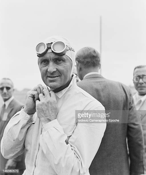Racing driver Louis Chiron at the Lausanne Grand Prix in Switzerland 27th August 1949