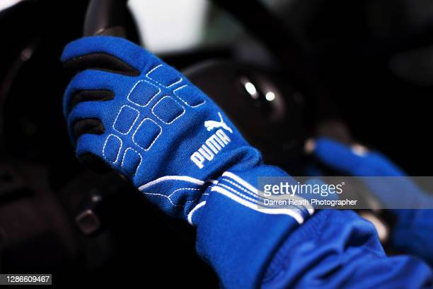 Racing driver's fire proof gloves worn by the FIA Safety Car driver at the 2009 Malaysian Grand Prix at the Sepang International Circuit, Malaysia,...
