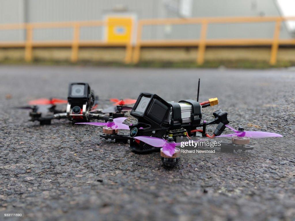 Racing Drones : Stock Photo