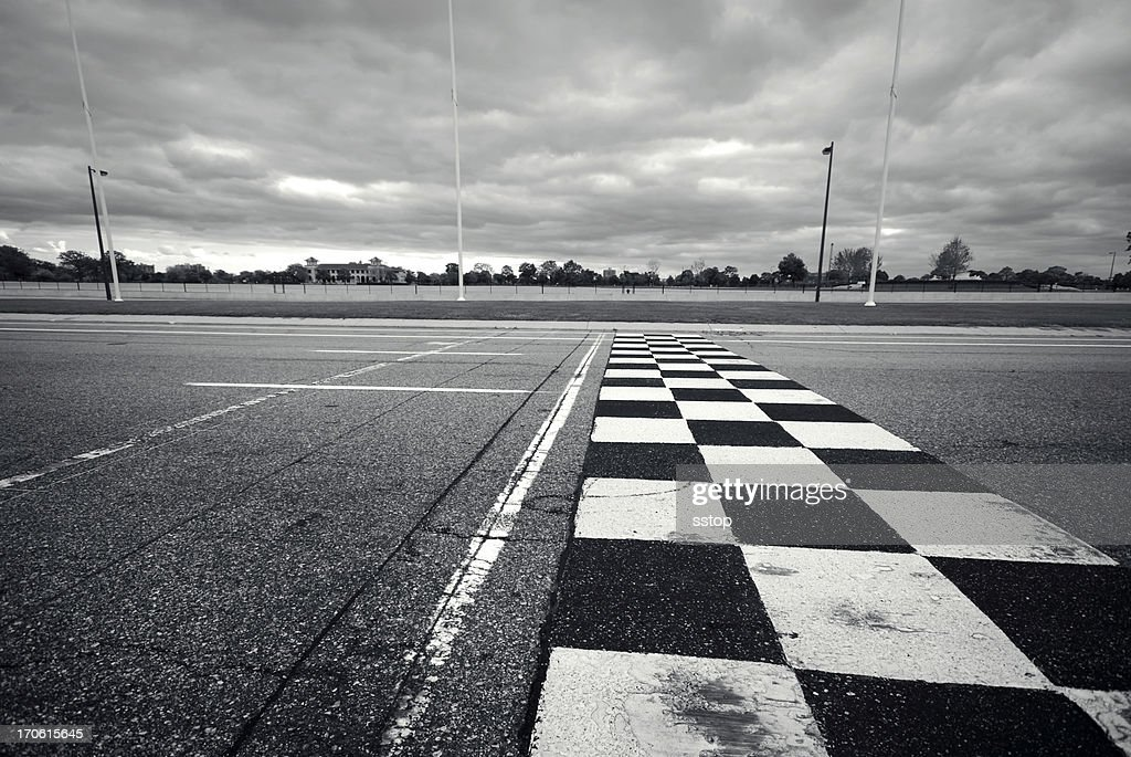Racing Finish Line : Stock Photo