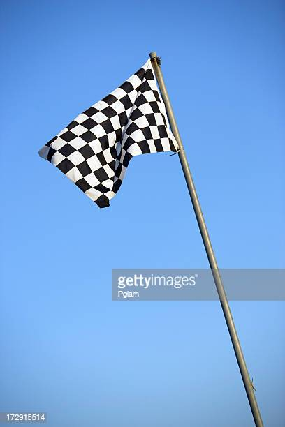Racing flag at the track