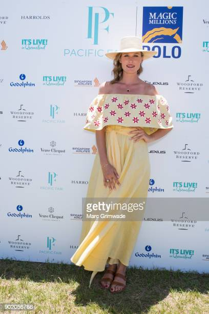Racing identity Francesca Cumani attends Magic Millions Polo on January 7 2018 in Gold Coast Australia