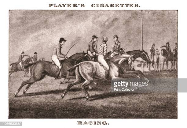 Racing' Jockeys on racehorses No20 in a series of 25 Old Sporting Prints Cigarette Cards After Samuel Howitt [John Player Sons 1924]Artist Unknown