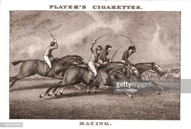 Racing' Jockeys whipping their racehorses No21 in a series of 25 Old Sporting Prints Cigarette Cards After Samuel Howitt [John Player Sons...