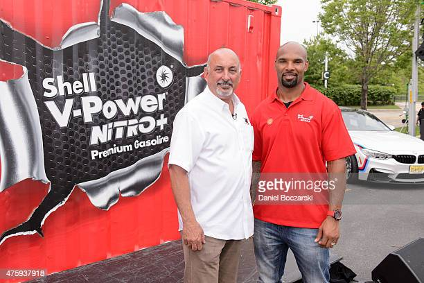 Racing legend Bobby Rahal and Chicago Bears running back Matt Forte celebrate the North American launch of the new Shell VPower NiTRO Premium...