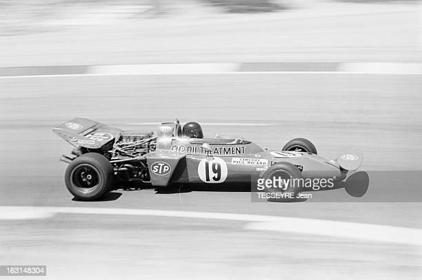 Racing On The Circuit Paul Ricard In Castellet Var 6 Juillet 1971 Grand Prix de France de Formule 1 au circuit du Castellet le pilote italien Andrea...