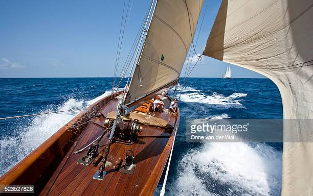 Racing Onboard Classic Yacht