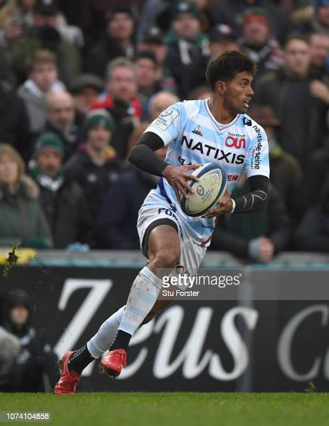 Racing player Ben Volavola in action during the Champions Cup match between Leicester Tigers and Racing 92 at Welford Road Stadium on December 16,...