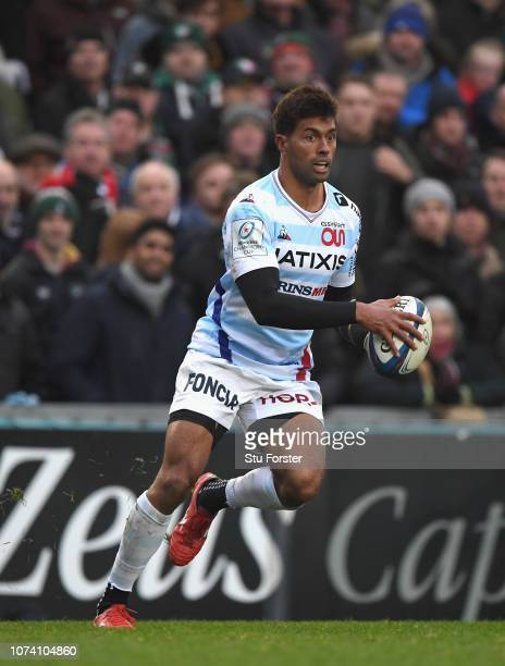 Racing player Ben Volavola in action during the Champions Cup match between Leicester Tigers and Racing 92 at Welford Road Stadium on December 16...