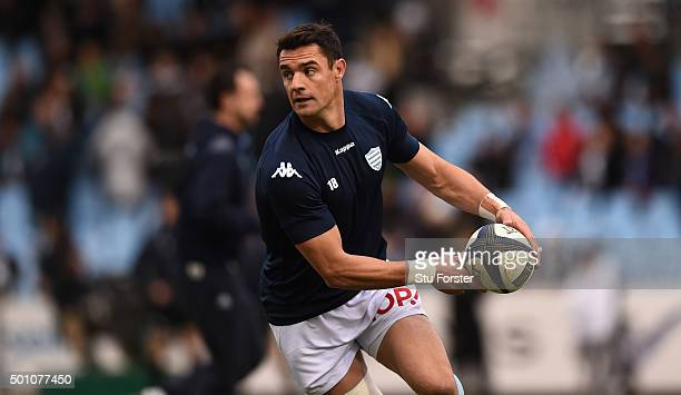 Racing player Dan Carter in action before the European Rugby Champions Cup match between Racing Metro 92 and Northampton Saints at Stade Yves Du...