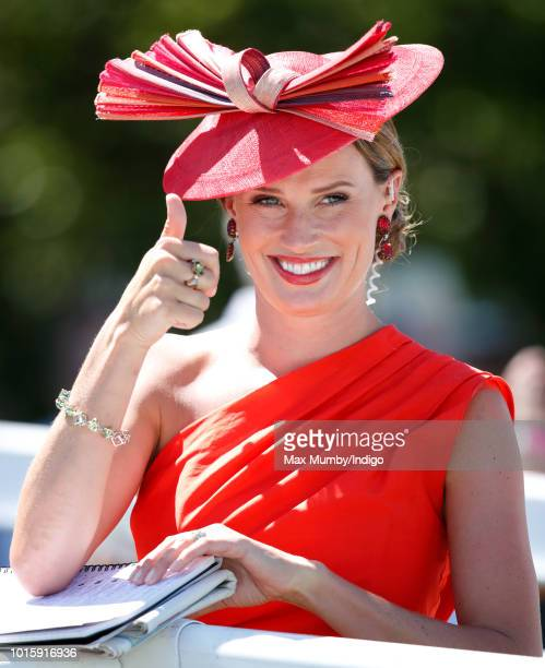 Serena Countess of Snowdon attends day 3 'Ladies Day' of the Qatar Goodwood Festival 2018 at Goodwood Racecourse on August 2 2018 in Chichester...