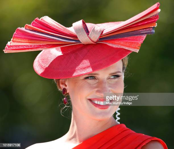 ITV racing presenter Francesca Cumani attends day 3 'Ladies Day' of the Qatar Goodwood Festival 2018 at Goodwood Racecourse on August 2 2018 in...