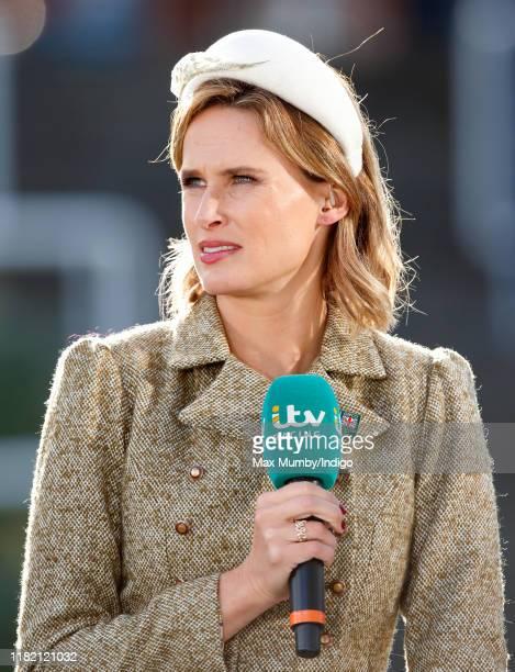 ITV racing presenter Francesca Cumani attends QICPO British Champions Day at Ascot Racecourse on October 19 2019 in Ascot England