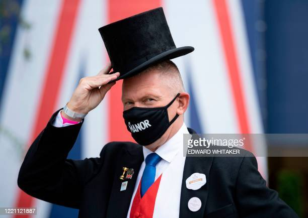 Racing presenter Matt Chapman poses for a photograph in morning dress on day five of the Royal Ascot horse racing meet, in Ascot, west of London, on...