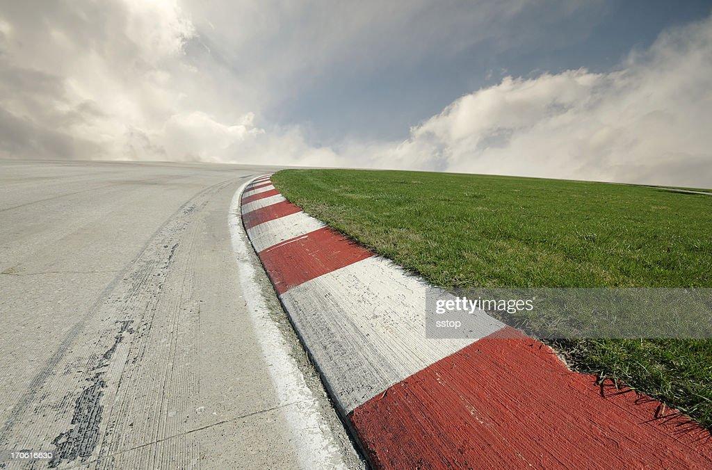 Racing Right Turn : Stock Photo