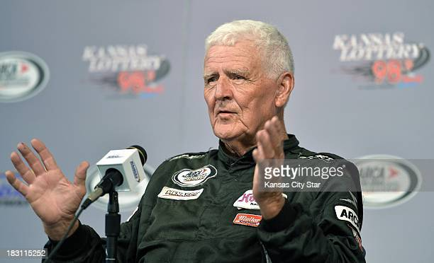 Racing Series driver James Hulton who is 79 talks about his racing career before the final race of his career during ARCA race Friday October 4 at...