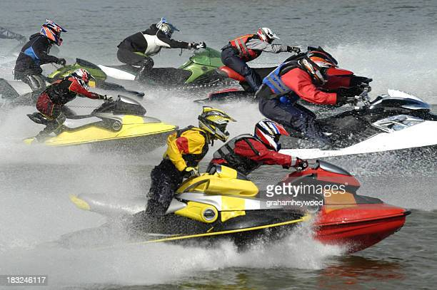 racing start - jet ski stock pictures, royalty-free photos & images