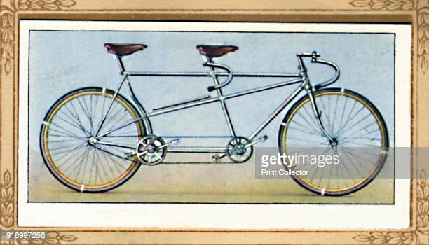 Racing Tandem', 1939. From Cycling 1839-1939 . [John Player & Sons, London, 1939]Artist Unknown.