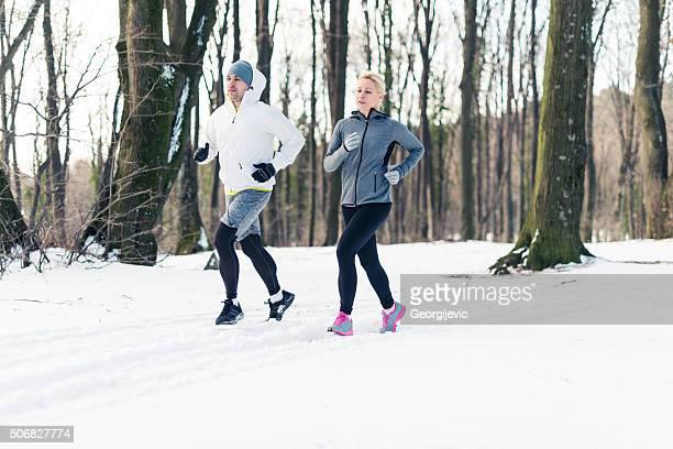 Racing through the snow