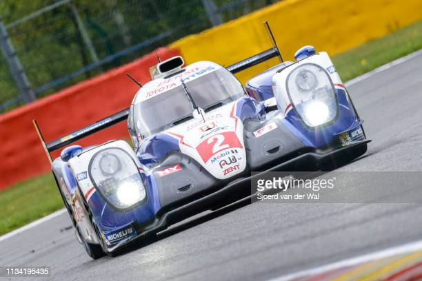 Racing Toyota TS 040 Hybrid race car driven by WURZ A SARRAZIN S CONWAY M driving on track during the 6 Hours of SpaFrancorchamps race the second...